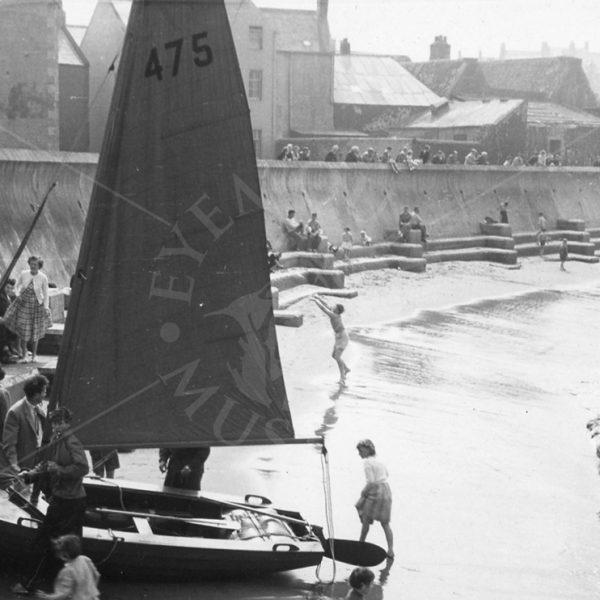 Launching Boats In Eyemouth bay